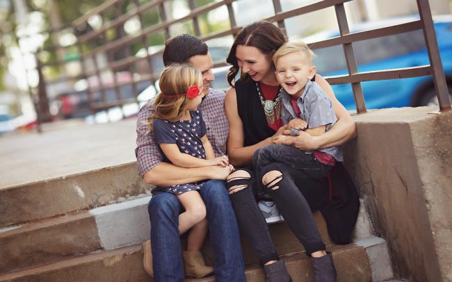 Downtown family photo session Crete Nebraska