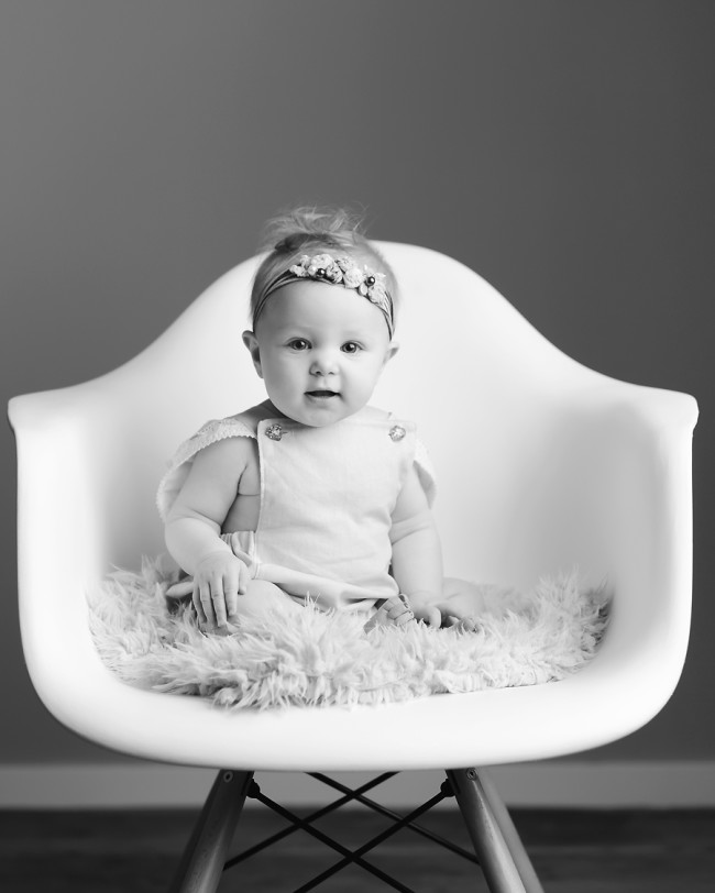 black and white 6 month photo