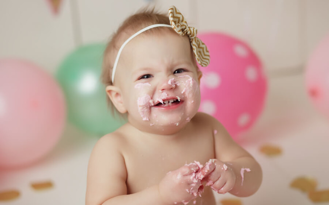 lincoln ne pink and aqua cake smash