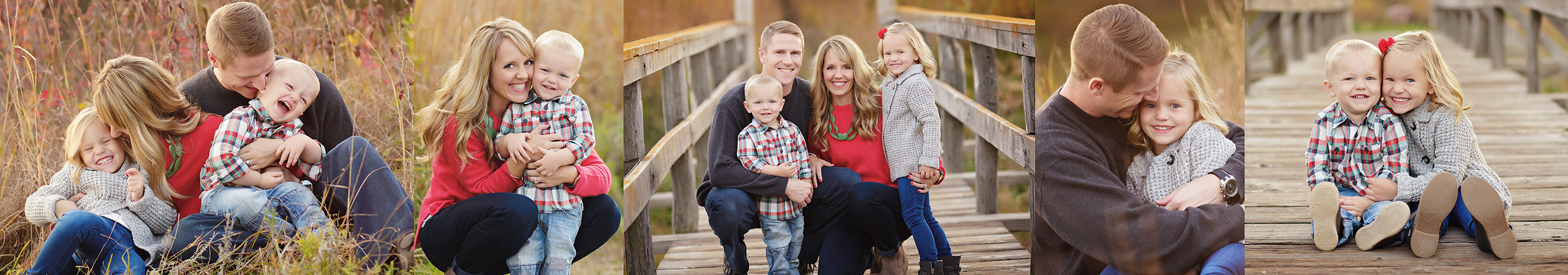 beautiful outdoor family portrait on a bridge lincoln ne