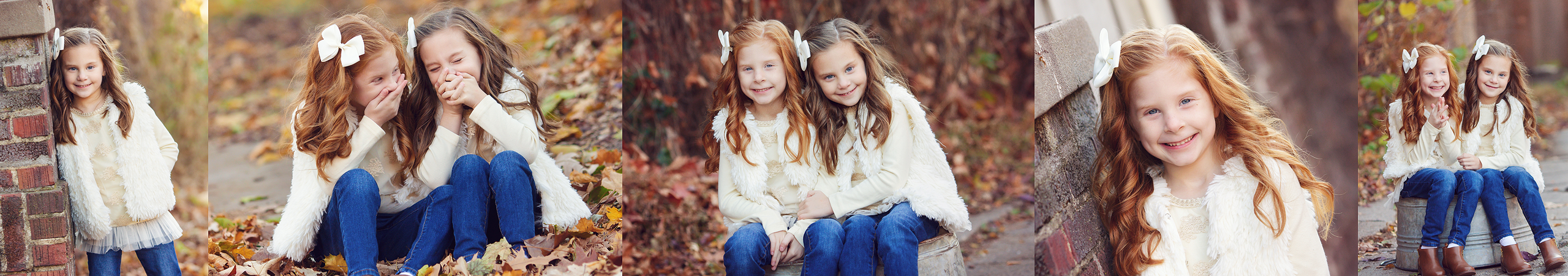 sisters laughing and smiling together nebraska kids photo session