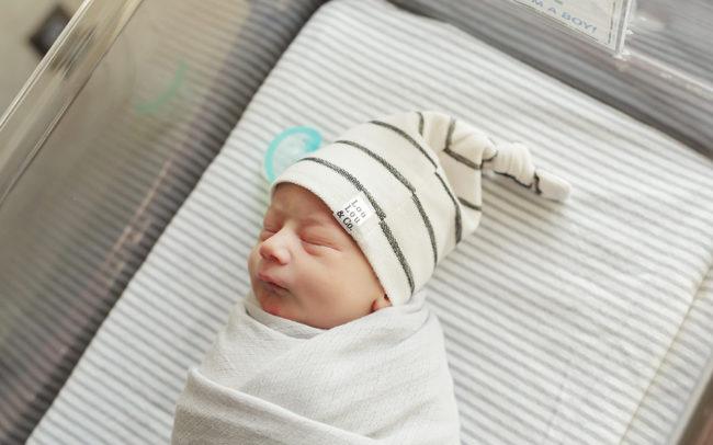 swaddled baby boy fresh 48 session bryan hospital