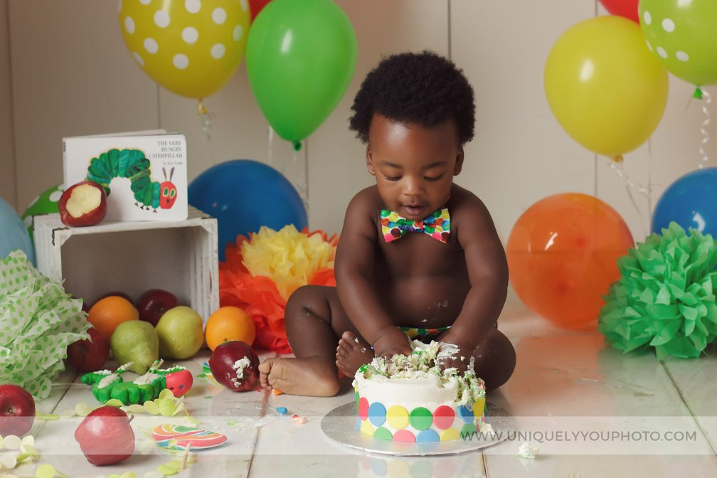 Lincoln Nebraska Cake Smash Session Photographer