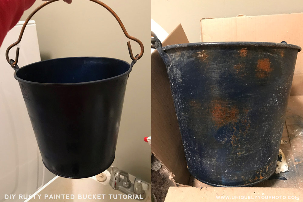 rusty painted bucket tutorial for photographers