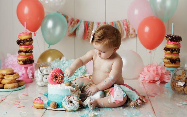 cake smash photographer lincoln ne donut