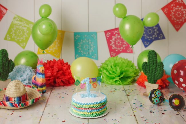 cake smash photographer lincoln nebraska mexican fiesta