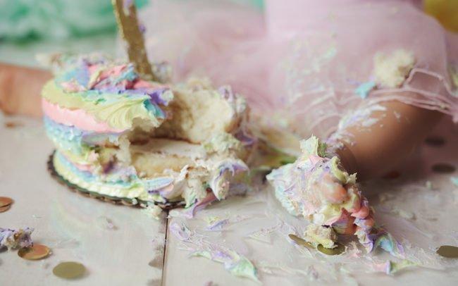 lincoln nebraska cake smash session pastel colors